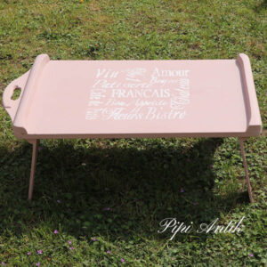 Romantisk morgenbakke foldbar rosafarvet 74x40x26cm