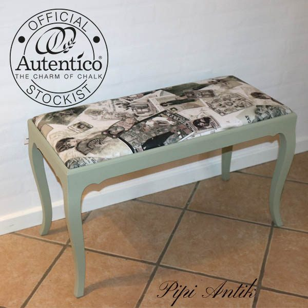 Pianobænk dobbelt Dried Moss Versante Autentico 80x38x50 cm højde