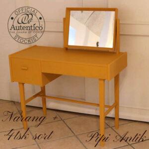 Retro sminkebord Orange Narang Autentico + sort i 90x40x105 cm H