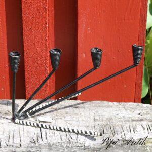 Retro metal lysetage advent stå og plast L30xD20xH20 cm