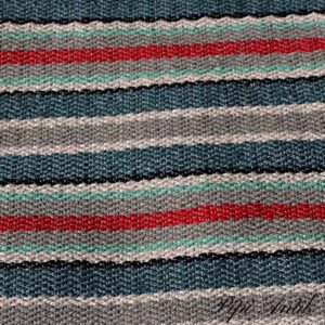 Kluddetæppe siv lyseblå grø rødt mintgrøn69x284 cm