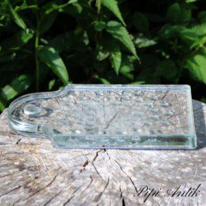 Glas skærebræt 24x15 cm med brugsmærker på glasset