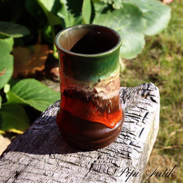 Keramikvase brun orange IMPORT Ø 8,5x14 cm