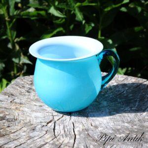 Mintblå potte glasvase Ø12x10 cm H