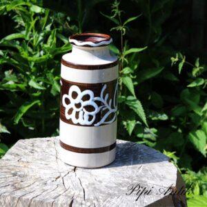 West Germany vase brun hvid 203-22 Ø10x22,5 cm