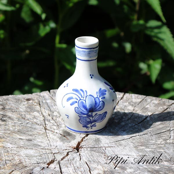 Mini keramikvase blå Di Delfts Mch Ø7x10 cm