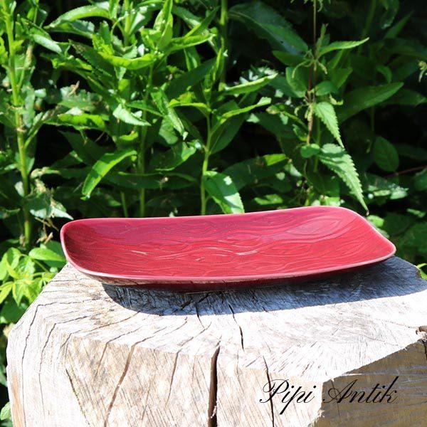 Retro keramik bordeau fad 27,5x14x3 cm