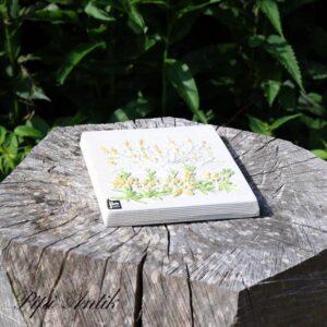 33 JIE Keramikbillede hvid gul 13,5x17 cm