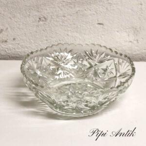 Presset glasskål med motiver Ø20x7 cm