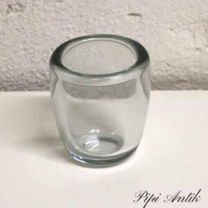 Glasvase rund buttet Ø8,5x10 cm