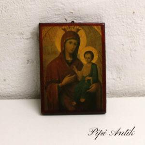 24 A Maria Magdalene billede i træ 13,5x18,5x2 cm