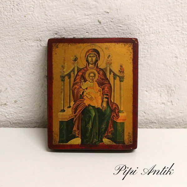 24 B Marie Magdalene billede i træ 14,5x18,5x2 cm