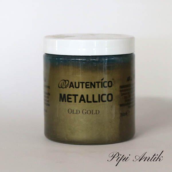 250 ml Old Gold Mettallico maling Autentico