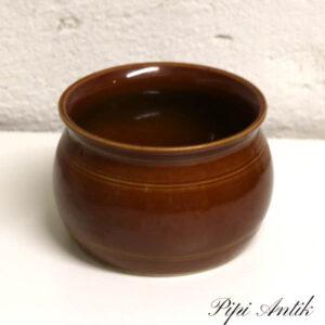 Gustavberg brun keramikkrukke Ø13x10 cm