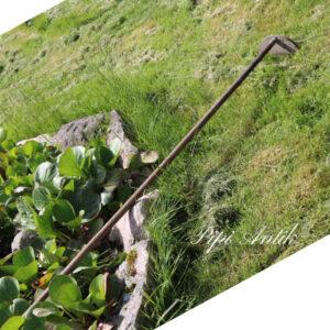 Haveredskab i træ mod ukrudt 180x25 cm