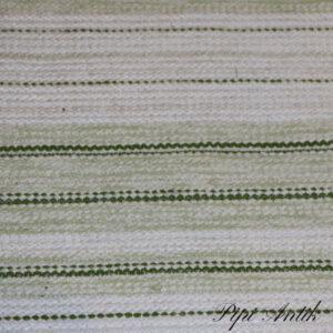 01 Grøn råhvid kluddetæppe svensk B65xL120 cm