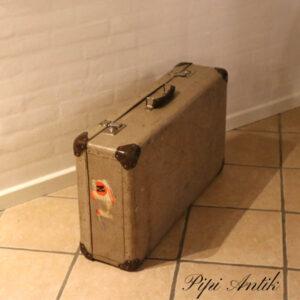 Retro kuffert beige meleret L75xB42xD20 cm