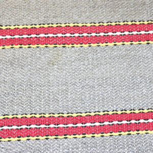 03 Svensk siv kluddetæppe grå rødt pastel gul 71X147 CM