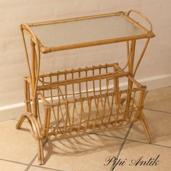 05 Bambusbord med avishylde L52xB30xH53 cm