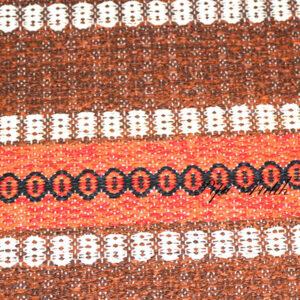 05 Orange svensk siv kluddetæppe 85x2294 cm