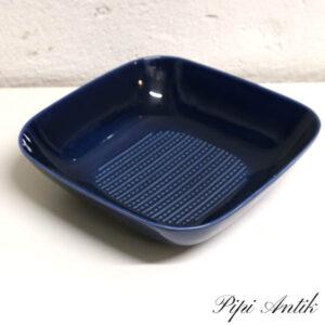 Rørstrand skål blå retro 13x12x6,5 cm