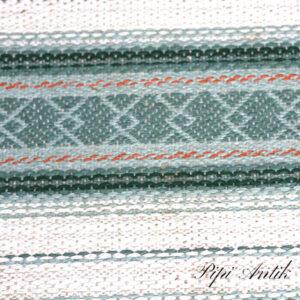 06A Svensk siv kluddetæppe grønlige råhvid toner 67x336 cm
