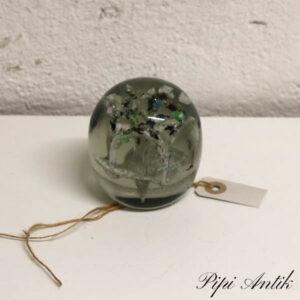 Glas brevvægt blomst Ø8x9 cm H