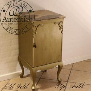 Natbord old gold Autentico 40x40x80 cm H