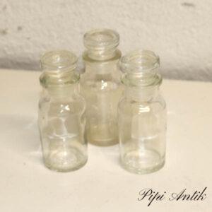 Sæt glaskrukker lyst 4 stk i en sæt Ø4x10,5 cm
