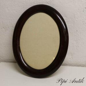 Mahogni ramme ovalt 36x28 cm
