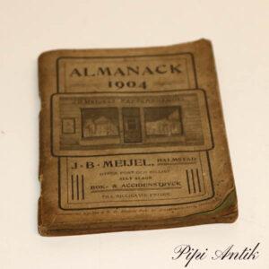 Opslagsbog Almanack 1904 svensk 10x14 cm