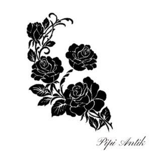 Stencil AS-449 Roses A4 21x30 cm