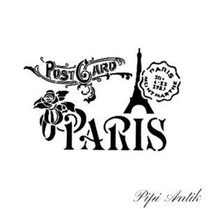 Stencil AS 467 Paris post card A4 21x30 cm