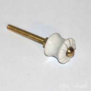 KN 234 Keramikknop hvid Ø2 cm