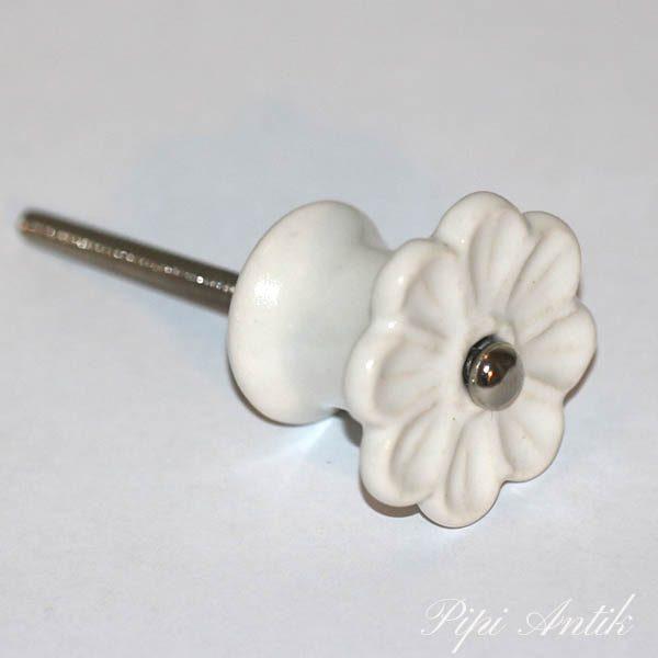 KN 561 Keramikknop hvid Ø4 cm