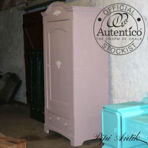 Karlekammerskab lyngfarvet Mauve & Antique Rose Autentico B94xD57xH200 cm