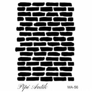 Stencil MA-56 Bricks mursten A4 21x30 cm