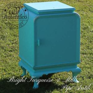Natbord i tyrkis Bright Turquoise og Milk Autentico B42xD39xH67 cm