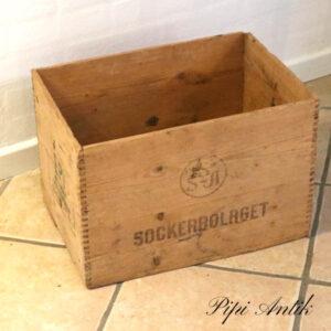 Sockerbolaget kasse natur 47x32,5x31, cm