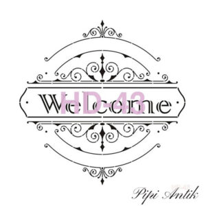 Stencil HD-43 Welcome 45x45 cm
