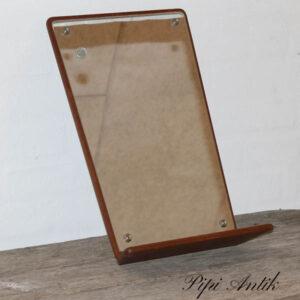 08 Teak spejl retro med hylde B26,5xH43 cm x 8 cmD hylden