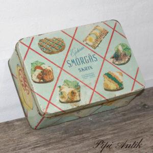 Smørgås retro dåse 24x17x9cm H