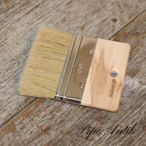100 mm flad pensel med 40 mm fladt træ håndtag