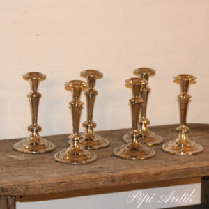 Sølvplet lysestager per stk Ø11x19,5 cm H