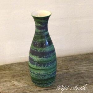 West Germany vase grøn blålig 574-25 Ø7 cm x 25 cm