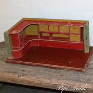 Stor dukkehus møbel i træ Vægbutiksinventar L42xD24xH18 cm