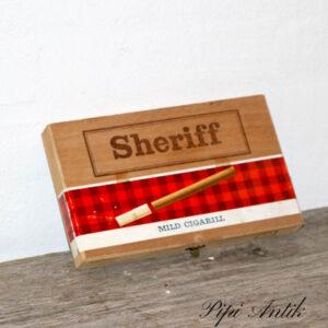 Sheriff cerut æske retro 27,5x13,5x2,5 cm