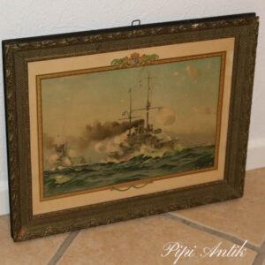 Billede dampskib 1903 48x39,5 cm