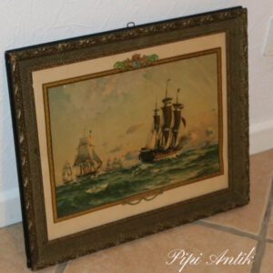 Billede sejlskibe 1864 motiver 48x39,5 cm