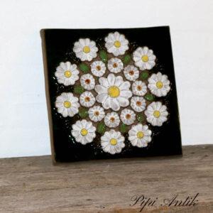 48 JIE keramikbillede Margueritter hvide 30x30 cm